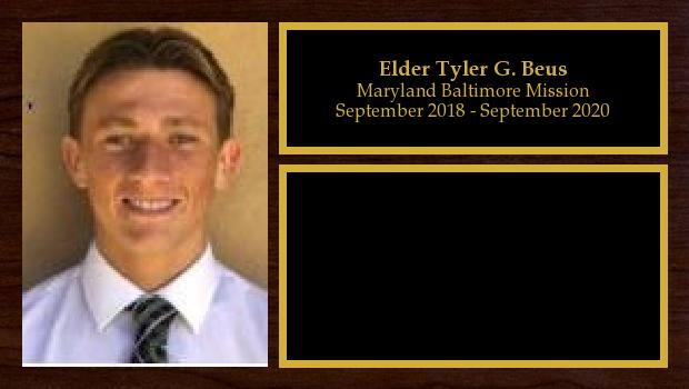 September 2018 to September 2020<br/>Elder Tyler G. Beus