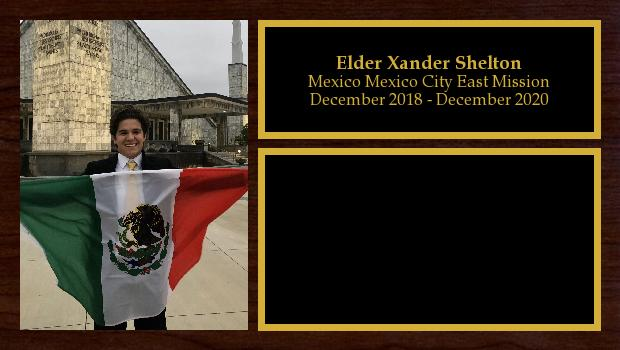 December 2018 to December 2020<br/>Elder Xander Shelton