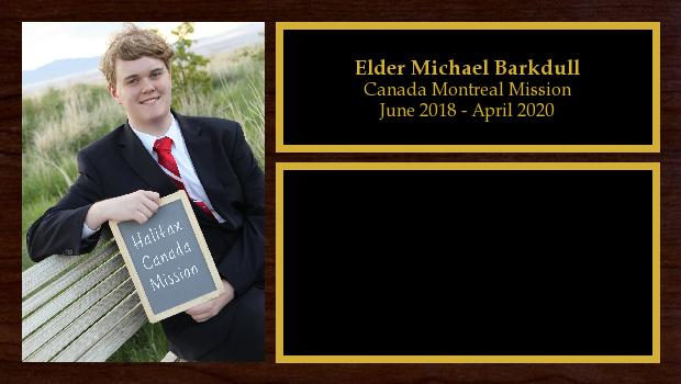 June 2018 to June 2020<br/>Elder Michael Barkdull