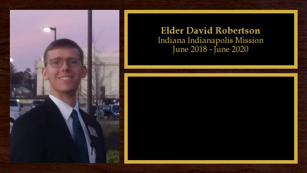 June 2018 to June 2020<br/>Elder David Robertson