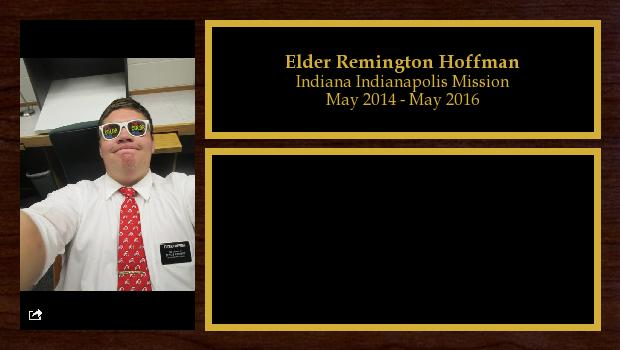 May 2014 to May 2016<br/>Elder Remington Hoffman