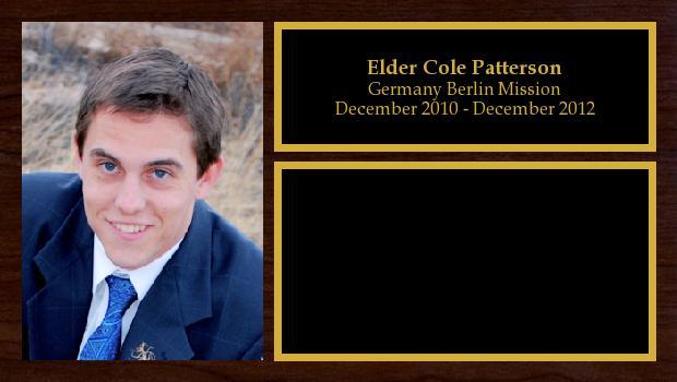 December 2010 to December 2012<br/>Elder Cole Patterson