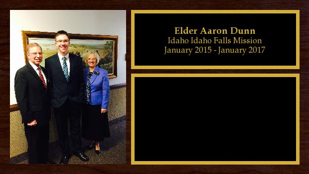 January 2015 to January 2017<br/>Elder Aaron Dunn