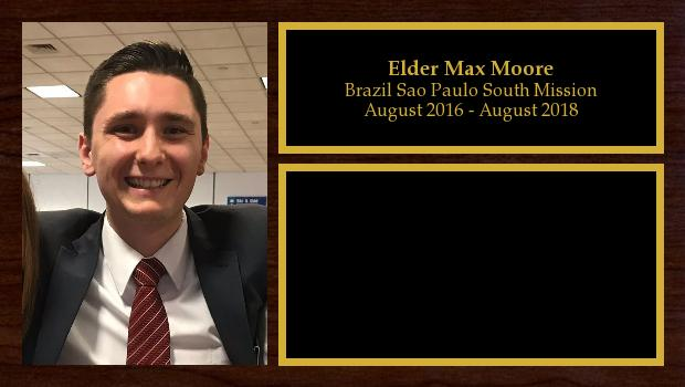 August 2016 to August 2018<br/>Elder Max Moore