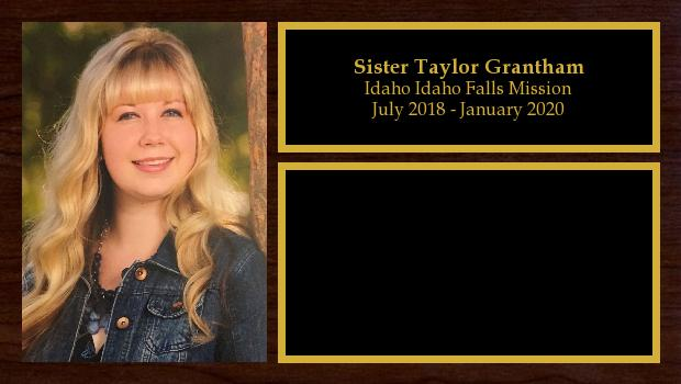 July 2018 to January 2020<br/>Sister Taylor Grantham