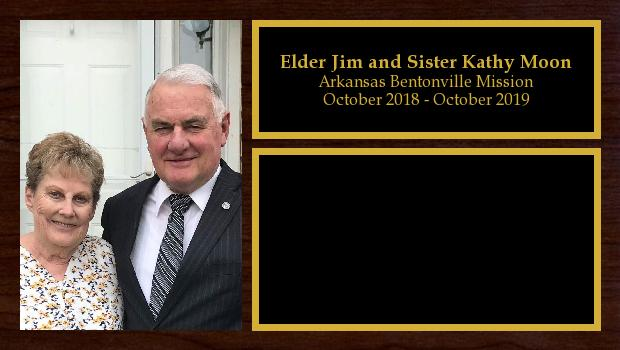 October 2018 to October 2019<br/>Elder Jim and Sister Kathy Moon
