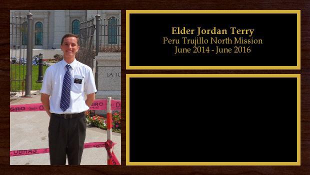 June 2014 to May 2016<br/>Elder Jordan Terry