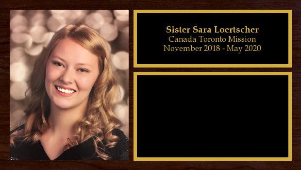 November 2018 to May 2020<br/>Sister Sara Loertscher