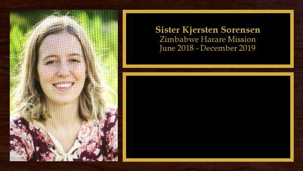 June 2018 to December 2019<br/>Sister Kjersten Sorensen