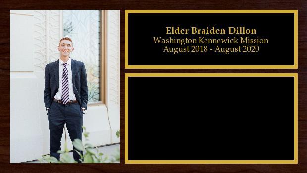 August 2018 to August 2020<br/>Elder Braiden Dillon