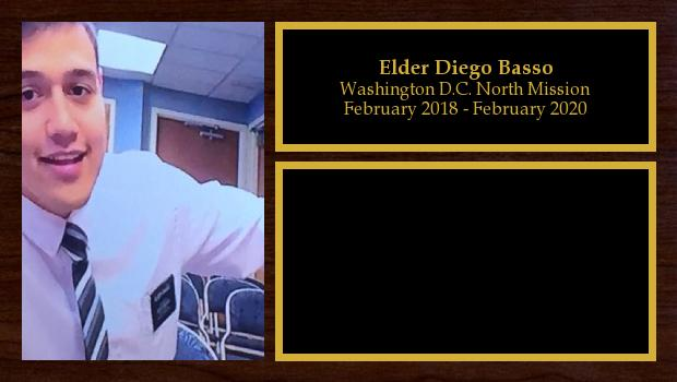 February 2018 to February 2020<br/>Elder Diego Basso