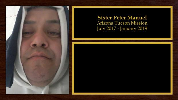 July 2013 to January 2047<br/>Sister Peter Manuel