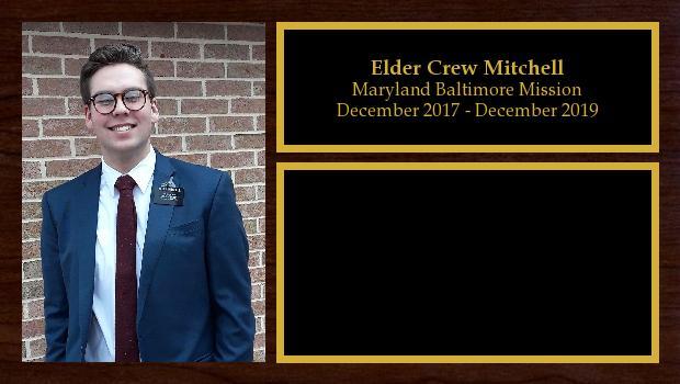 December 2017 to December 2019<br/>Elder Crew Mitchell