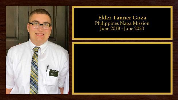 June 2018 to June 2020<br/>Elder Tanner Goza