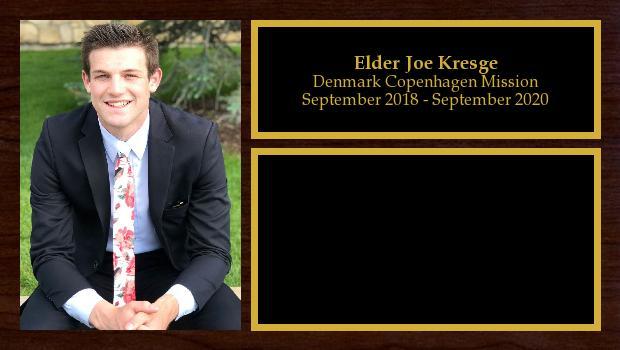September 2018 to September 2020<br/>Elder Joe Kresge