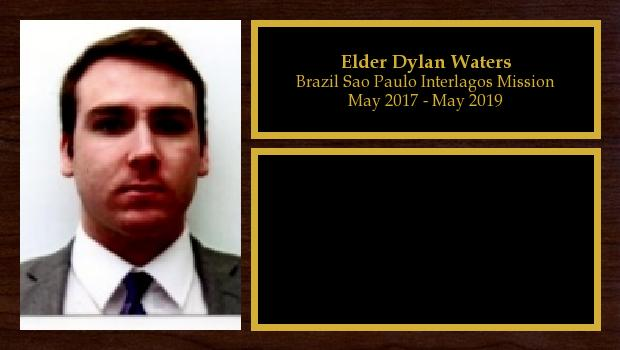 May 2017 to May 2019<br/>Elder Dylan Waters