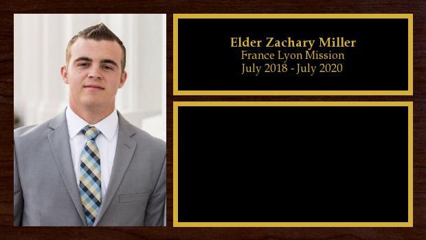 July 2018 to June 2020<br/>Elder Zachary Miller