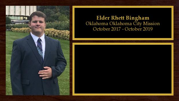 October 2017 to October 2019<br/>Elder Rhett Bingham
