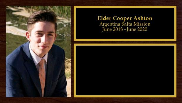 June 2018 to June 2020<br/>Elder Cooper Ashton