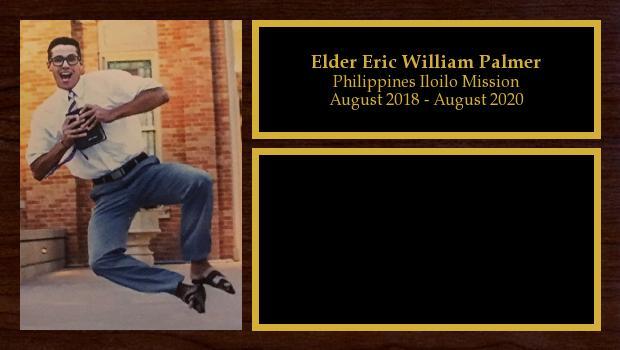 August 2018 to August 2020<br/>Elder Eric William Palmer