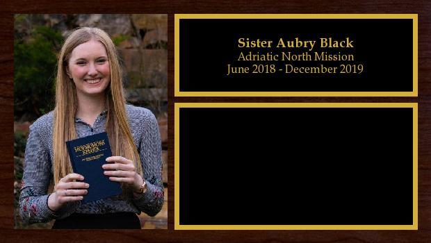 June 2018 to December 2019<br/>Sister Aubry Black