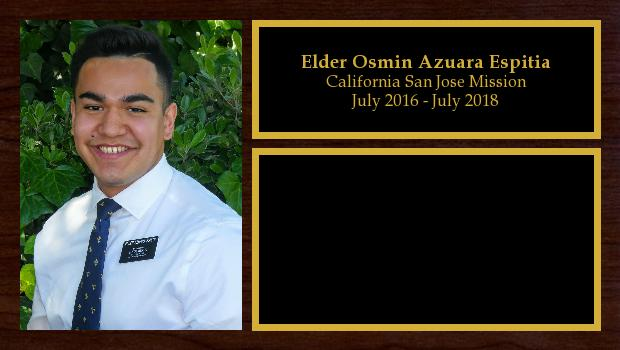 July 2016 to July 2018<br/>Elder Osmin Azuara Espitia