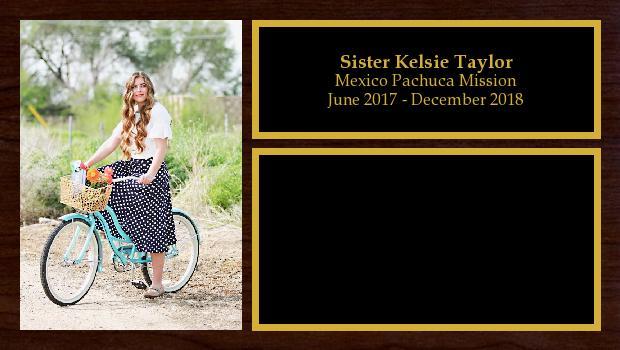 June 2017 to December 2018<br/>Sister Kelsie Taylor