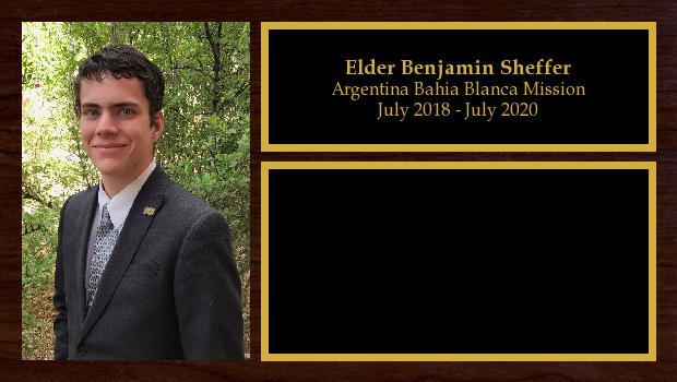 July 2018 to June 2020<br/>Elder Benjamin Sheffer