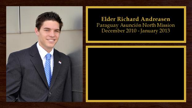 December 2010 to January 2013<br/>Elder Richard Andreasen