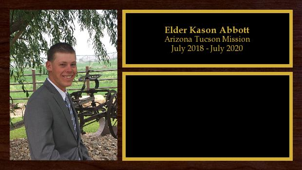 July 2018 to July 2020<br/>Elder Kason Abbott