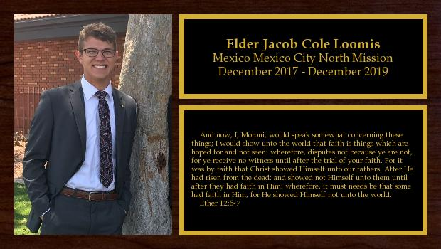 December 2017 to December 2019<br/>Elder Jacob Cole Loomis