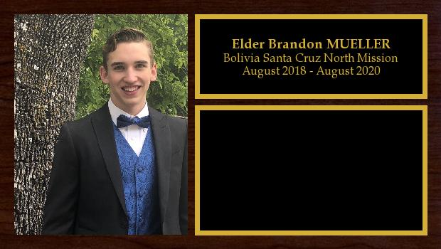 August 2018 to August 2020<br/>Elder Brandon MUELLER