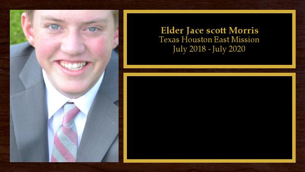 July 2018 to July 2020<br/>Elder Jace scott Morris