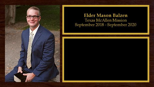 September 2018 to September 2020<br/>Elder Mason Balzen