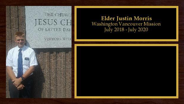 July 2018 to July 2020<br/>Elder Justin Morris