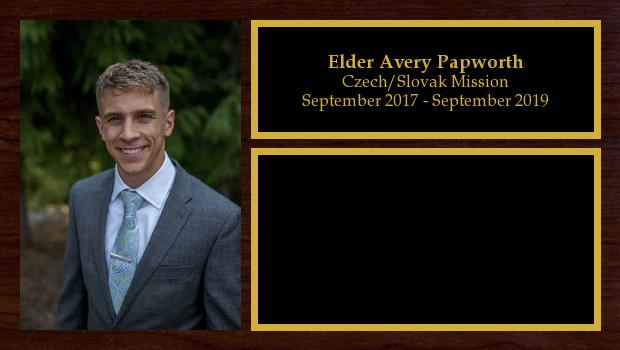 September 2017 to October 2019<br/>Elder Avery Papworth
