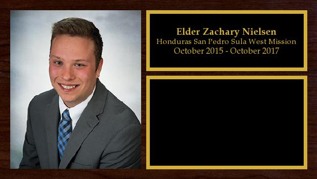 October 2015 to October 2017<br/>Elder Zachary Nielsen