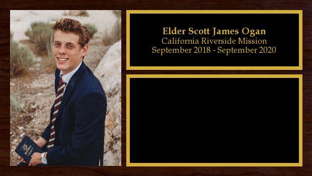 September 2018 to September 2020<br/>Elder Scott James Ogan