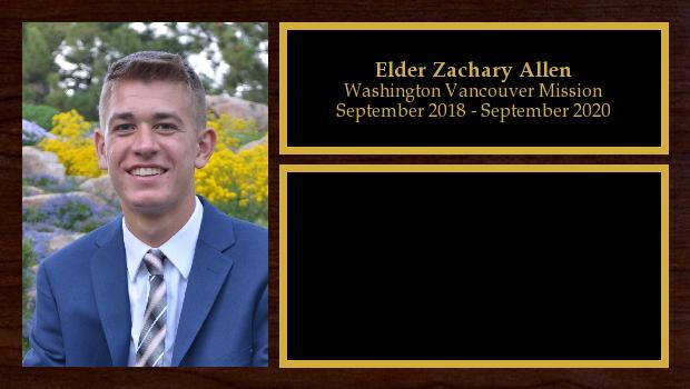 September 2018 to June 2020<br/>Elder Zachary Allen