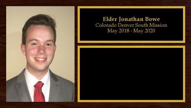 May 2018 to May 2020<br/>Elder Jonathan Bowe
