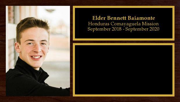 September 2018 to August 2020<br/>Elder Bennett Baiamonte