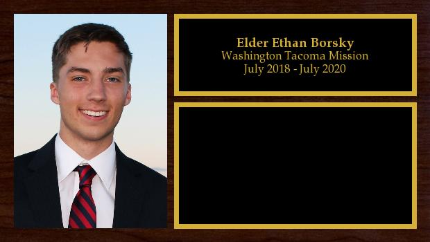 July 2018 to July 2020<br/>Elder Ethan Borsky