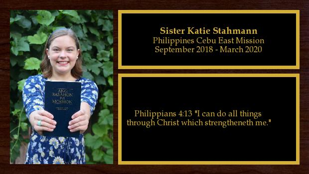 September 2018 to March 2020<br/>Sister Katie Stahmann