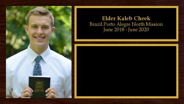 June 2018 to June 2020<br/>Elder Kaleb Cheek
