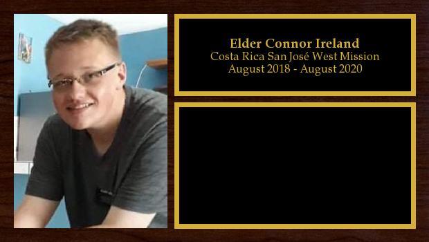August 2018 to June 2019<br/>Elder Connor Ireland