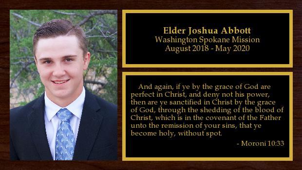 August 2018 to May 2020<br/>Elder Joshua Abbott