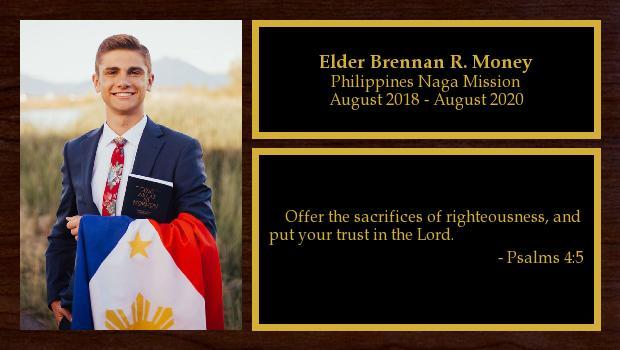 August 2018 to August 2020<br/>Elder Brennan R. Money