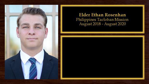 August 2018 to August 2020<br/>Elder Ethan Rosenhan