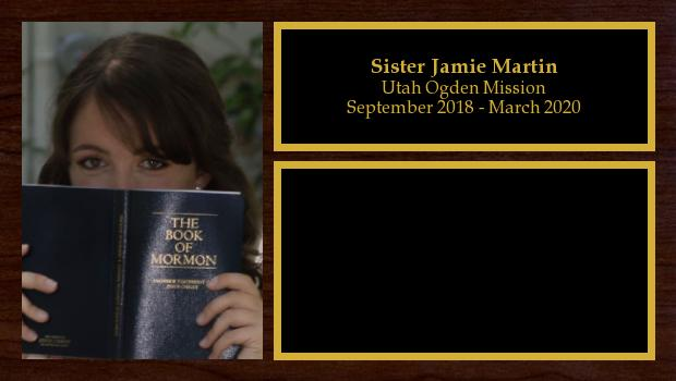 September 2018 to March 2020<br/>Sister Jamie Martin