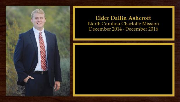 December 2014 to December 2016<br/>Elder Dallin Ashcroft